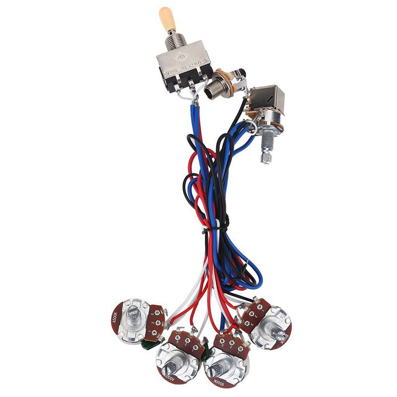 guitar parts wiring harness kit 2v 2t 3 way switch for les paul lp gibson d3z5 ebay. Black Bedroom Furniture Sets. Home Design Ideas