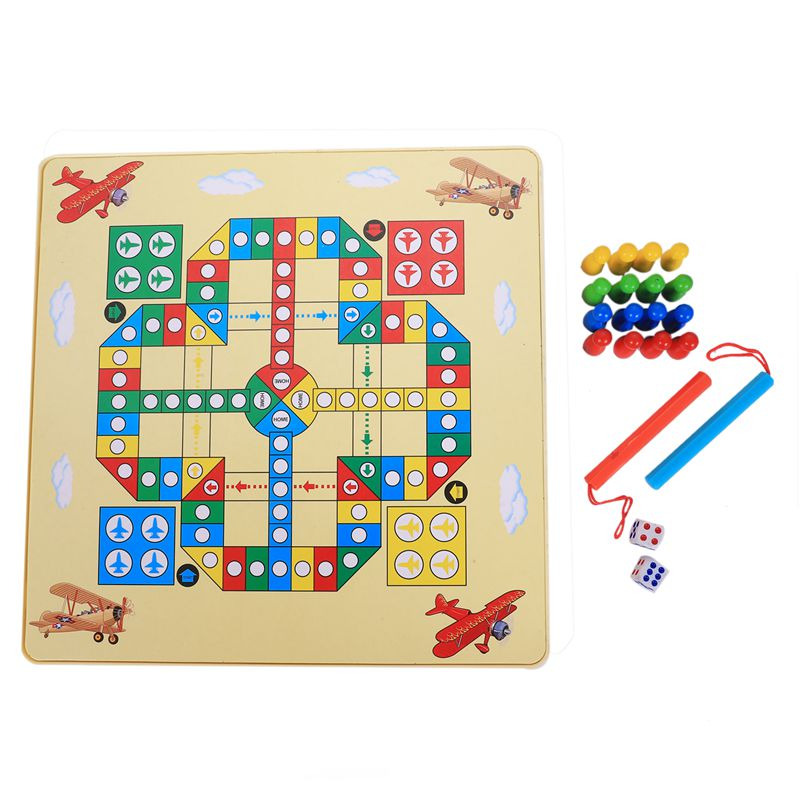 2in1 Magnetic Maze Maze Maze w  Flying Chess Double-faced Labyrinth Maze Educational L3A8 819594