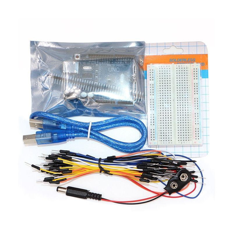 Items: Uno R3, Breadboard, Jumper Wires, USB Cable and 9V Battery ...