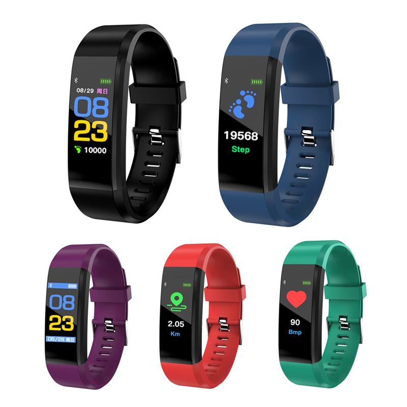 115plus-Smart-Bracelet-Fitness-Tracker-Step-Counter-Smartband-Recordatorio-d-PB miniatura 19