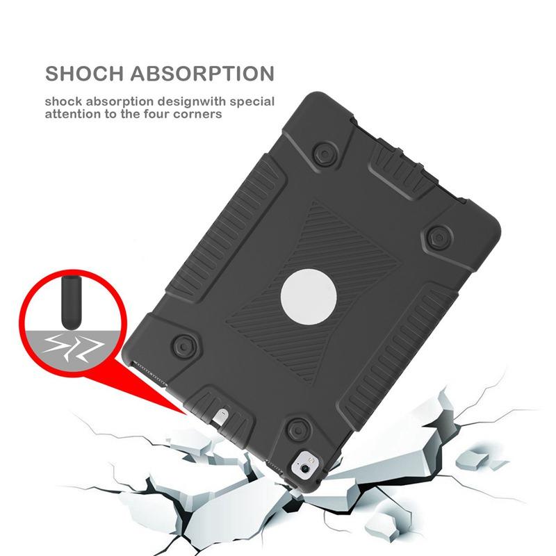 miniature 4 - Pour Apple iPad 5 Caoutchouc Silicone Robuste stossfestes Gehaeuse c8s8