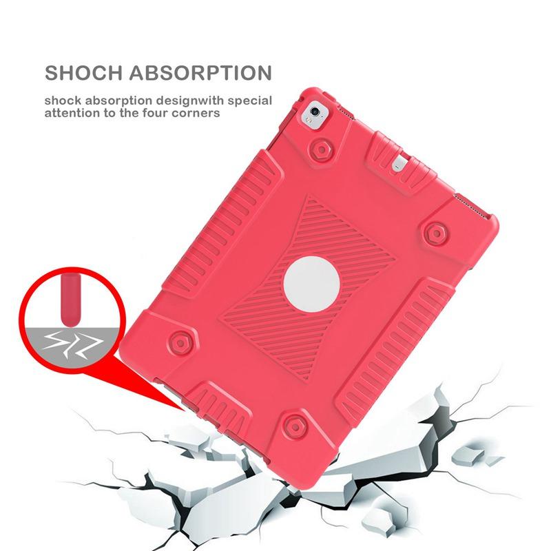 miniature 10 - Pour Apple iPad 5 Caoutchouc Silicone Robuste stossfestes Gehaeuse c8s8