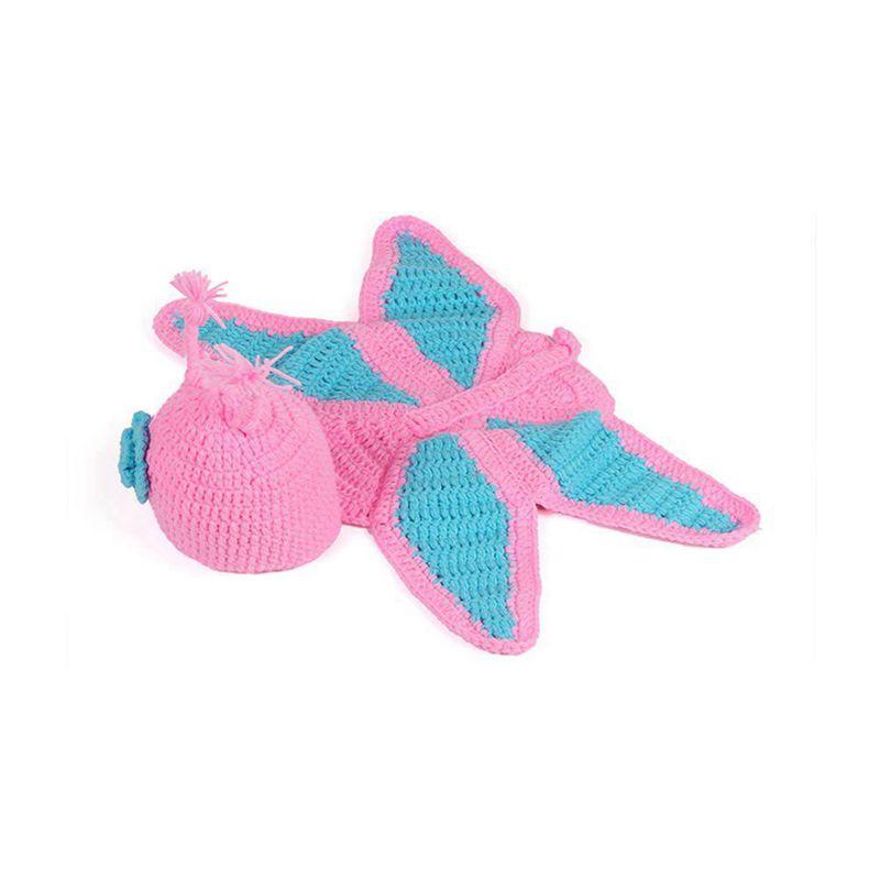 Fashion Unisex Newborn Boy Girl Crochet Knitted Baby Outfits Costume Set Pho 6P3