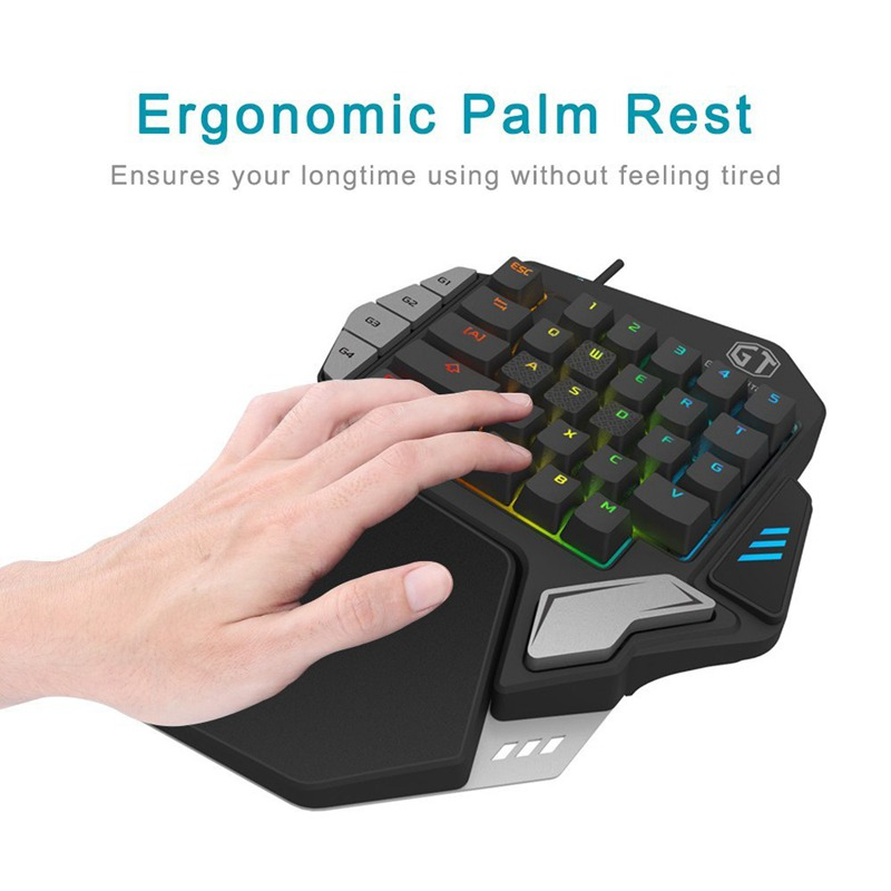 delux t9x mechanical keyboard usb wired single hand gaming keyboard pad erg i4i5 192948016509 ebay. Black Bedroom Furniture Sets. Home Design Ideas