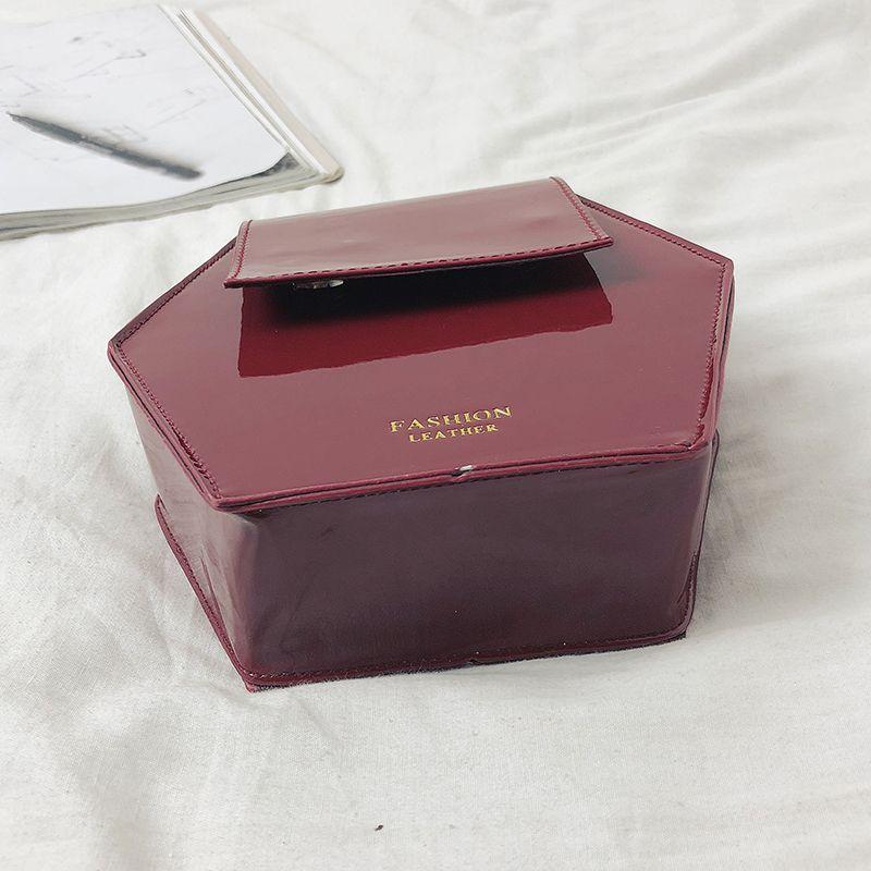 Fashion-Hexagonal-Damen-Tasche-Ketten-Mini-Handtaschen-Leder-Damen-Schulter-W8W4 Indexbild 6