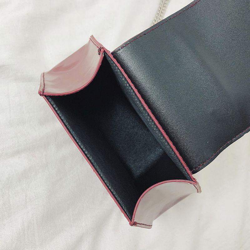 Fashion-Hexagonal-Damen-Tasche-Ketten-Mini-Handtaschen-Leder-Damen-Schulter-W8W4 Indexbild 8
