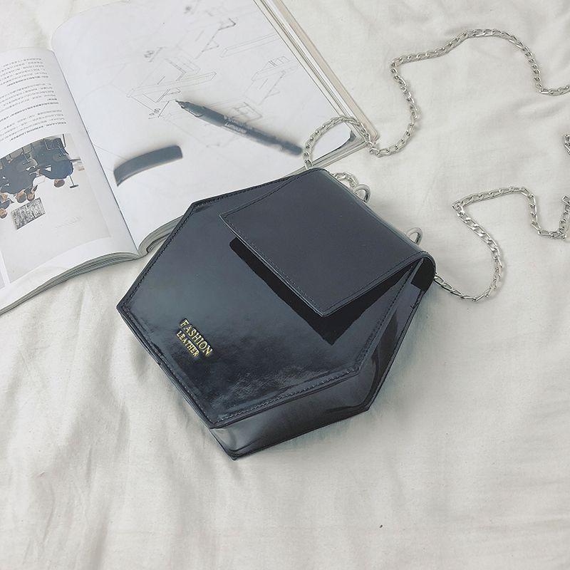Fashion-Hexagonal-Damen-Tasche-Ketten-Mini-Handtaschen-Leder-Damen-Schulter-W8W4 Indexbild 17