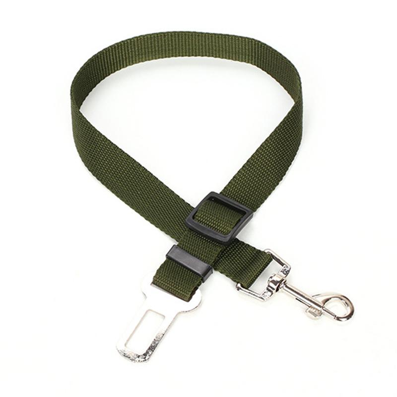 3X-Laisse-de-securite-voiture-pour-chien-armee-verte-L8T3-RW1 miniature 4