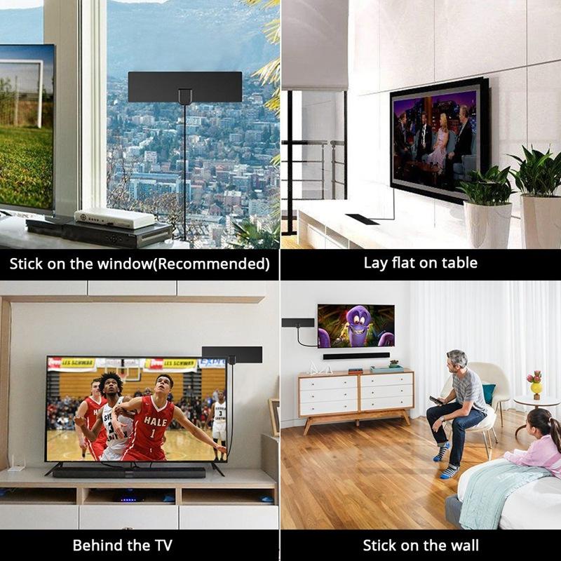 Antena-HDTV-digital-para-interior-Alcance-de-80-millas-amplificado-4K-HD-VH-N1Y6