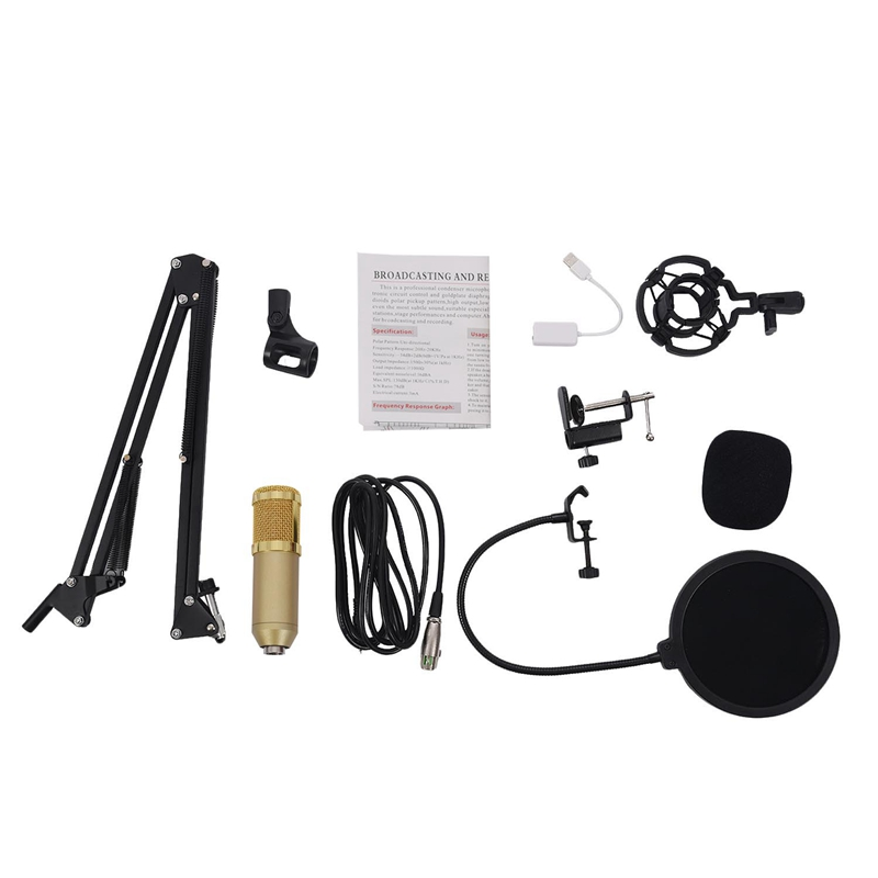 BM800-Condenser-Microphone-Kit-Studio-Suspension-Boom-Scissor-Arm-Sound-Car-I5X2 thumbnail 14