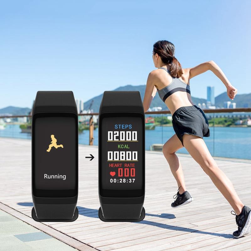 F1-pulsera-inteligente-pulsera-impermeable-de-ejercicio-paso-presion-Z6P3 miniatura 6