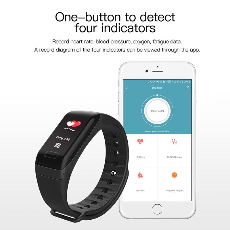 F1-pulsera-inteligente-pulsera-impermeable-de-ejercicio-paso-presion-Z6P3 miniatura 9