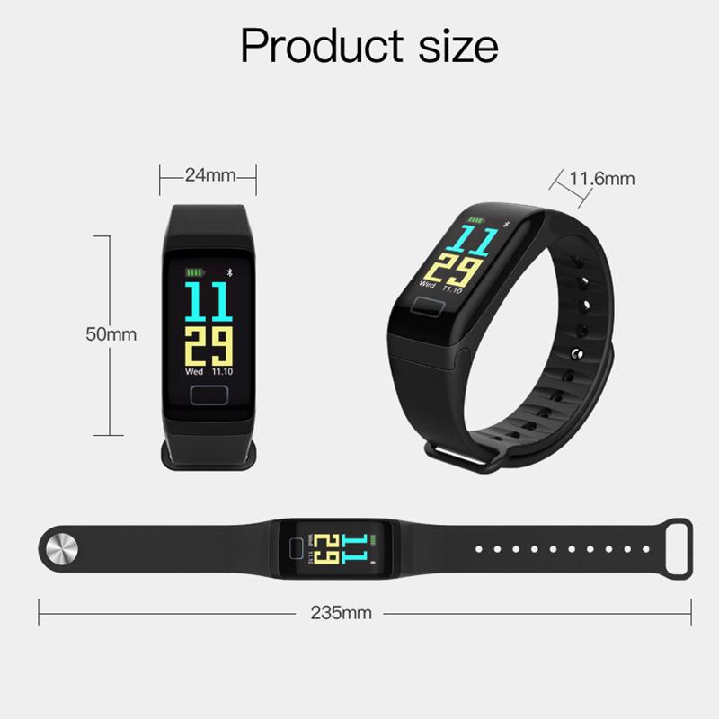 F1-pulsera-inteligente-pulsera-impermeable-de-ejercicio-paso-presion-Z6P3 miniatura 10