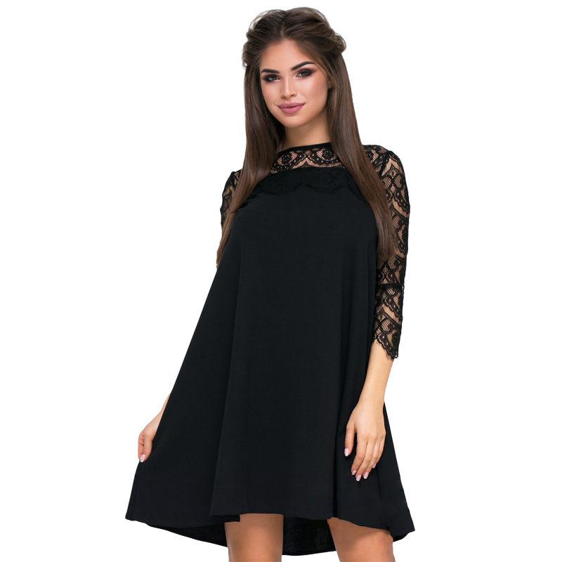 537de146b Detalles de Vestido de encaje sexy Ropa mama mujer moda informal suelto  verano para sol N1T5