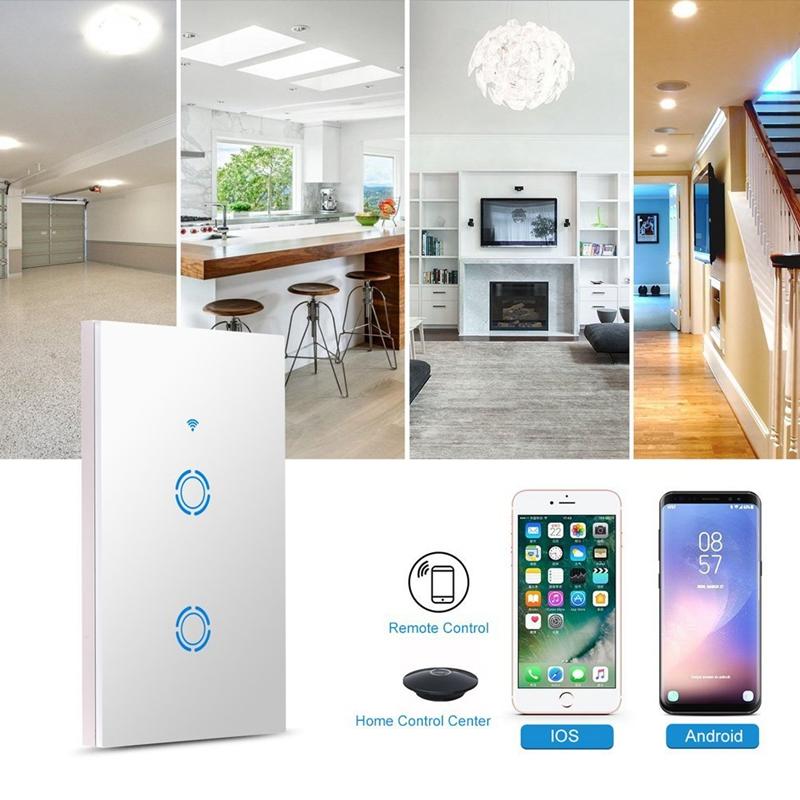 wifi kontrolle lichtschalter intelligent in wall sprachsteuerung beruehren b5n1 ebay. Black Bedroom Furniture Sets. Home Design Ideas