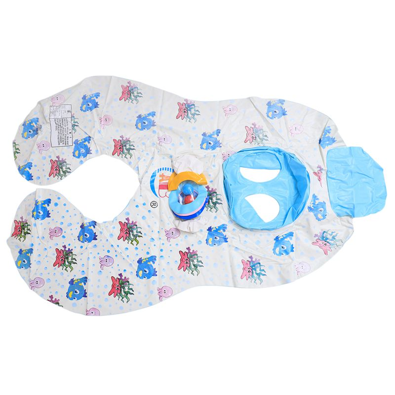 Safe-Soft-Inflatable-Mother-amp-Baby-Swim-Float-Ring-Kids-Seat-Double-Person-Sw-H7V7 miniature 6