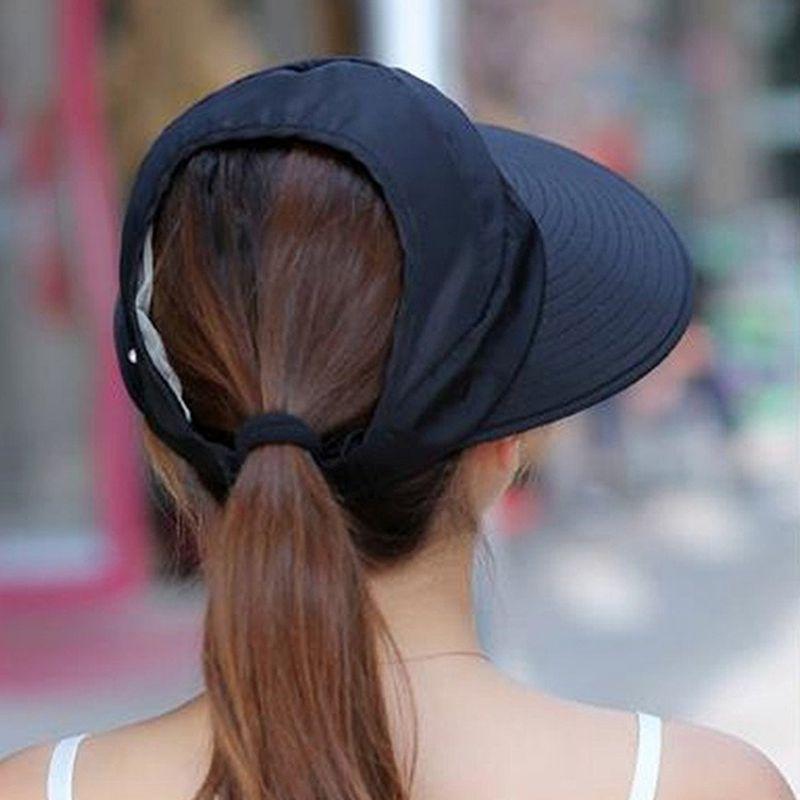 1X-Chapeau-de-soleil-Chapeau-de-plage-pliable-pour-dames-Chapeau-de-visiere-D2M9 miniature 15