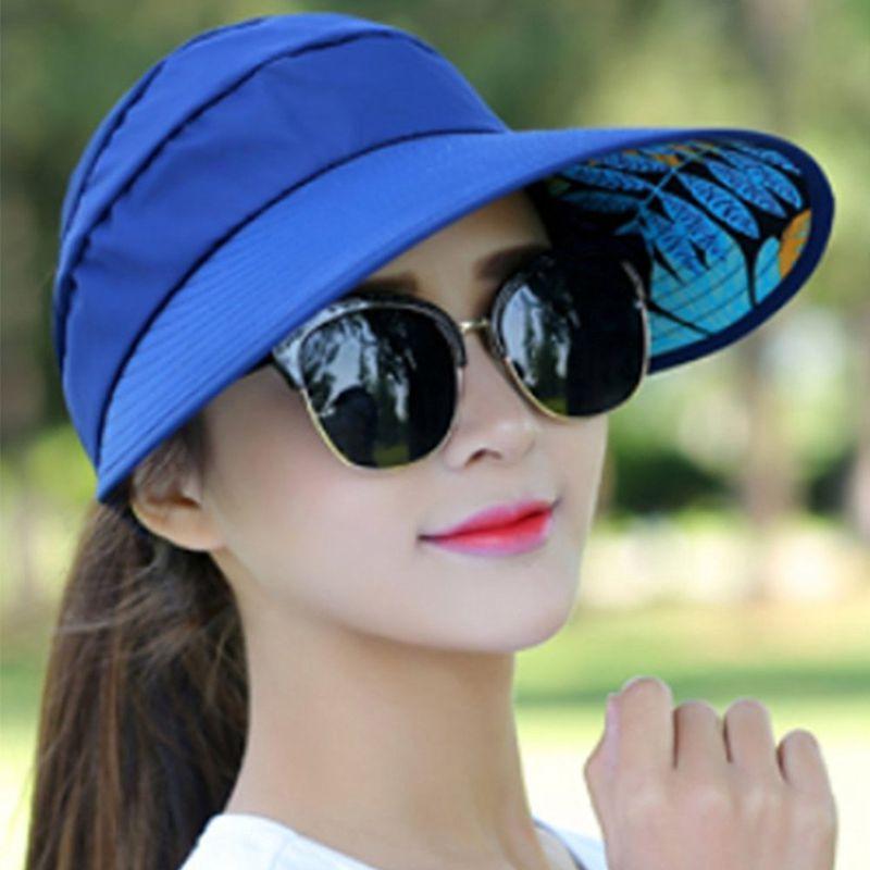 1X-Chapeau-de-soleil-Chapeau-de-plage-pliable-pour-dames-Chapeau-de-visiere-D2M9 miniature 19