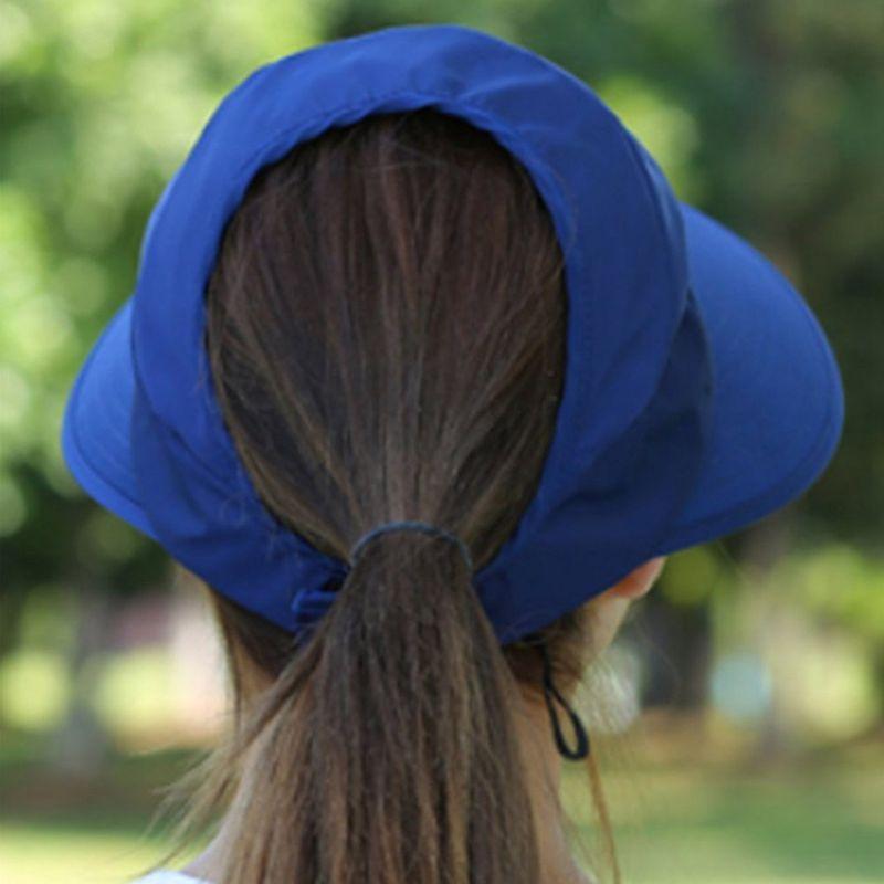 1X-Chapeau-de-soleil-Chapeau-de-plage-pliable-pour-dames-Chapeau-de-visiere-D2M9 miniature 20