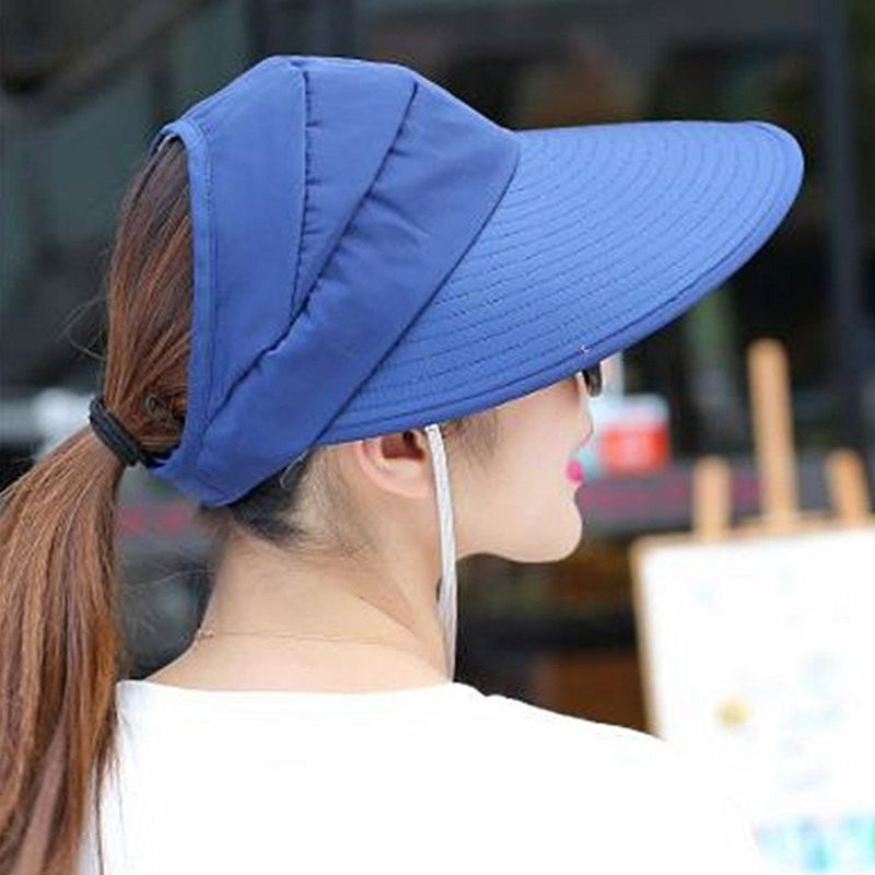1X-Chapeau-de-soleil-Chapeau-de-plage-pliable-pour-dames-Chapeau-de-visiere-D2M9 miniature 21