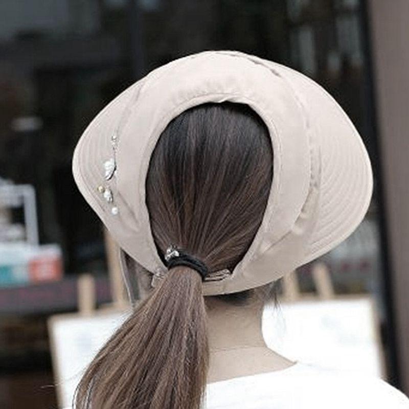 1X-Chapeau-de-soleil-Chapeau-de-plage-pliable-pour-dames-Chapeau-de-visiere-D2M9 miniature 27