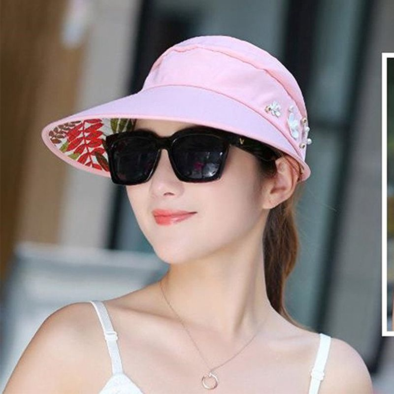 1X-Chapeau-de-soleil-Chapeau-de-plage-pliable-pour-dames-Chapeau-de-visiere-D2M9 miniature 31