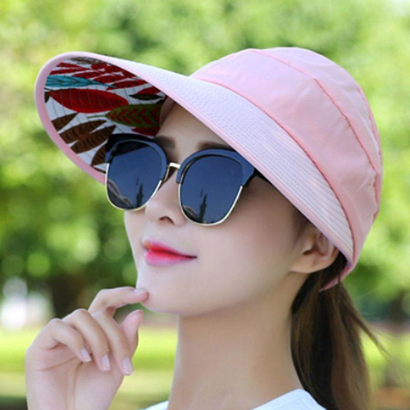 1X-Chapeau-de-soleil-Chapeau-de-plage-pliable-pour-dames-Chapeau-de-visiere-D2M9 miniature 35