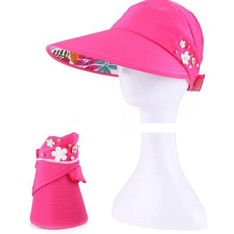 1X-Chapeau-de-soleil-Chapeau-de-plage-pliable-pour-dames-Chapeau-de-visiere-D2M9 miniature 42