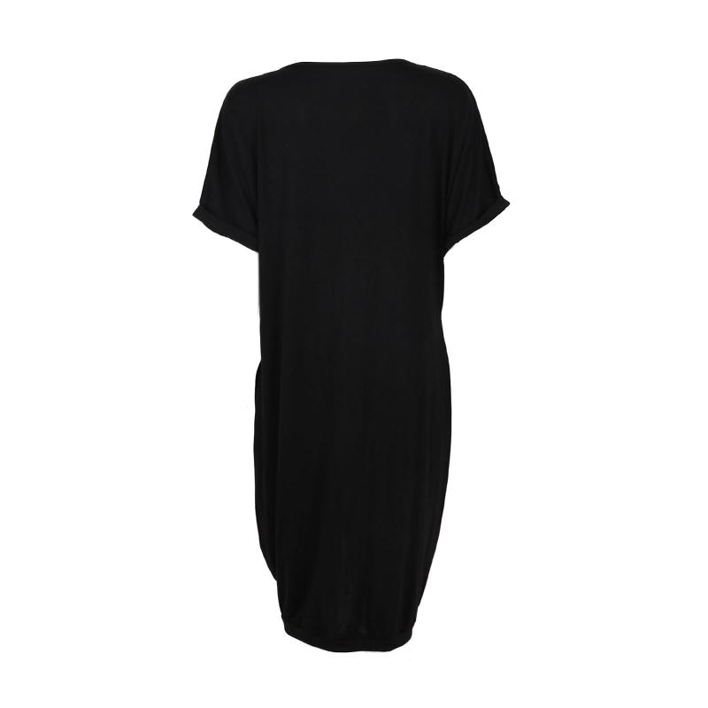 D'ete 5x Femme Decontractee robe Courtes Manches A Robe Pour Enm8f8 Lache Col rSrYxFq