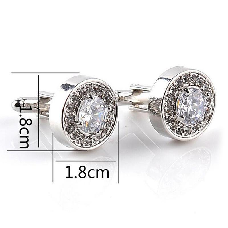 5X-1-Pair-Fashion-Diamond-Cufflinks-Cuff-Links-Womens-Mens-Dress-Business-Wed-MO thumbnail 2