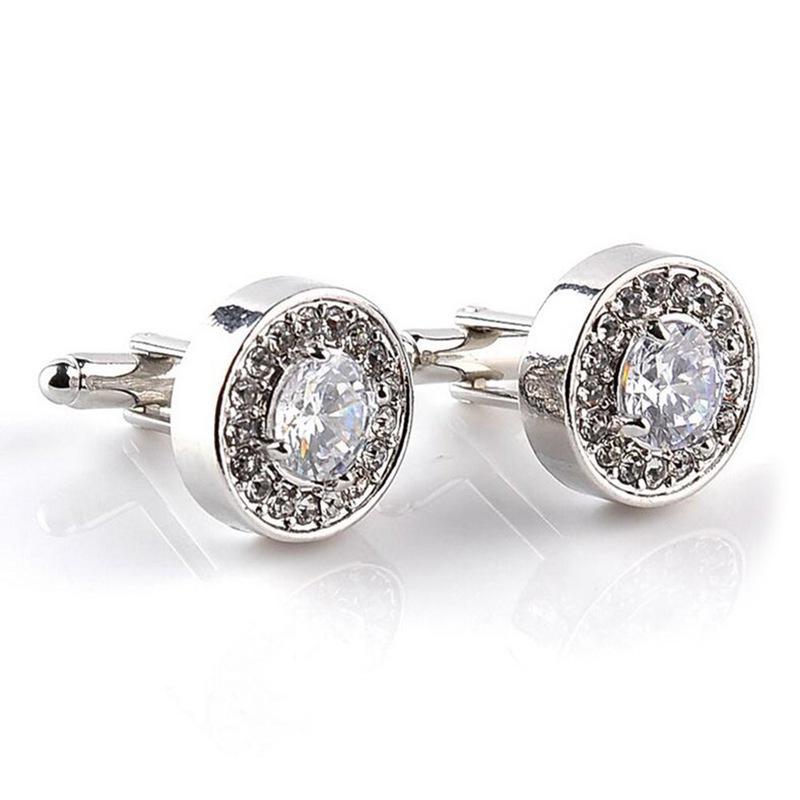 5X-1-Pair-Fashion-Diamond-Cufflinks-Cuff-Links-Womens-Mens-Dress-Business-Wed-MO thumbnail 3