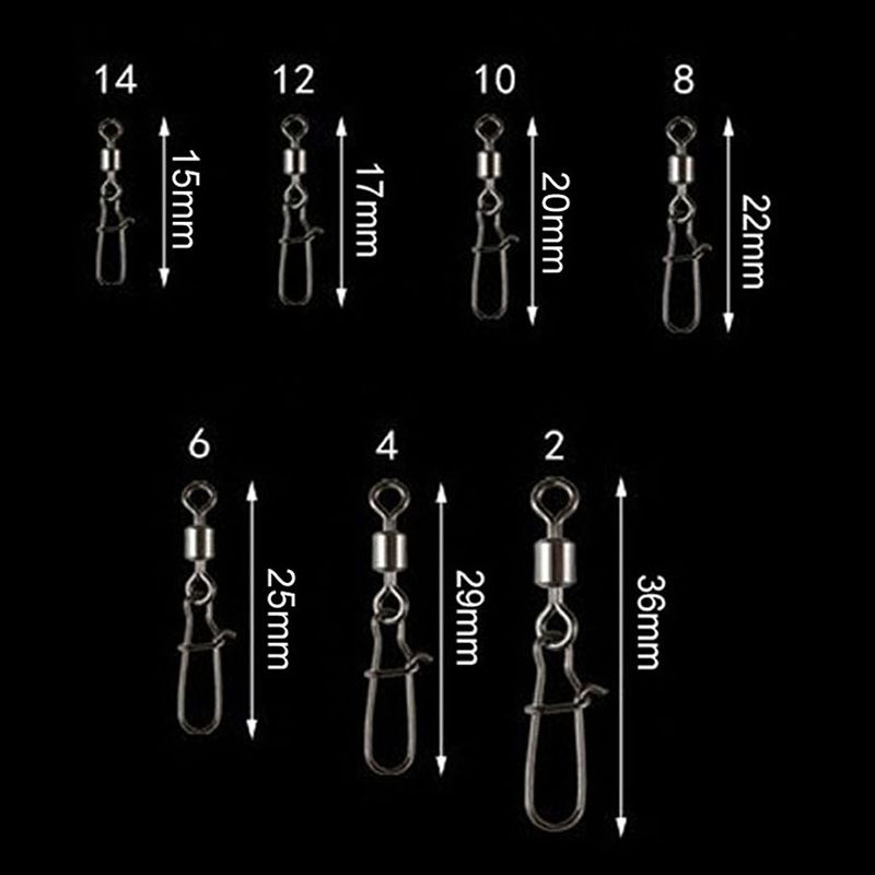 50-Piezas-Conector-de-pesca-de-lote-Pin-que-lleva-el-acero-inoxidable-del-M2C4 miniatura 6