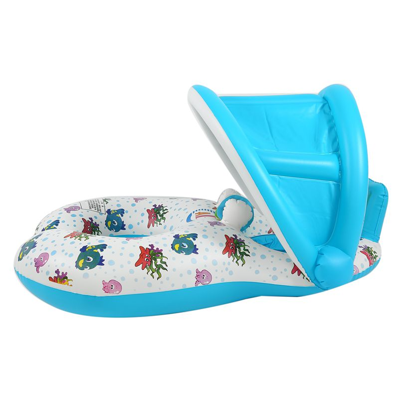 Safe-Soft-Inflatable-Mother-amp-Baby-Swim-Float-Ring-Kids-Seat-Double-Person-Sw-H7V7 miniature 21