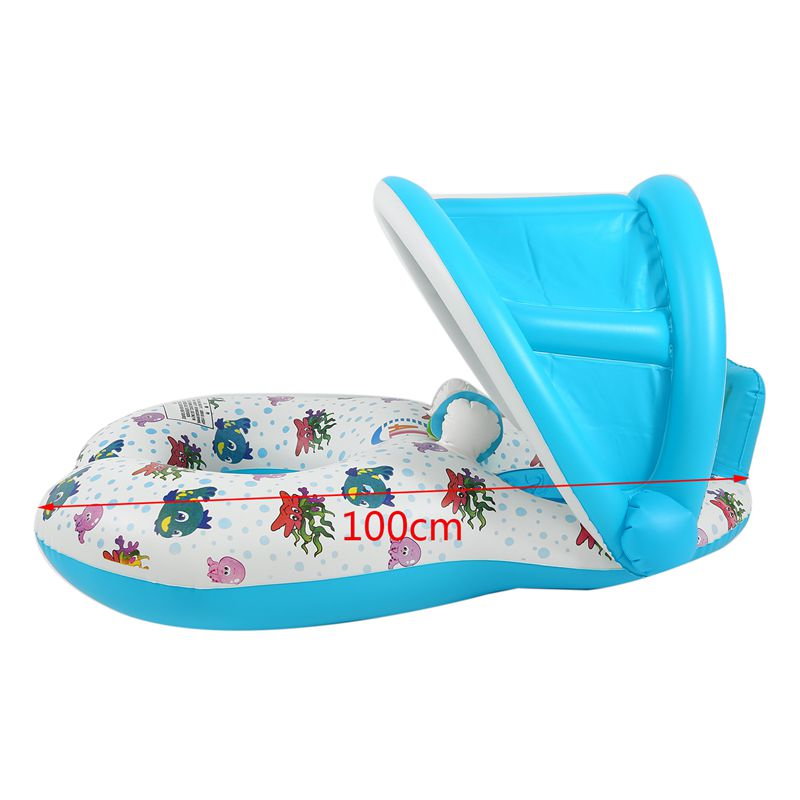 Safe-Soft-Inflatable-Mother-amp-Baby-Swim-Float-Ring-Kids-Seat-Double-Person-Sw-H7V7 miniature 22