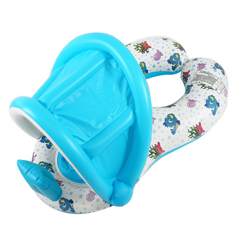 Safe-Soft-Inflatable-Mother-amp-Baby-Swim-Float-Ring-Kids-Seat-Double-Person-Sw-H7V7 miniature 23