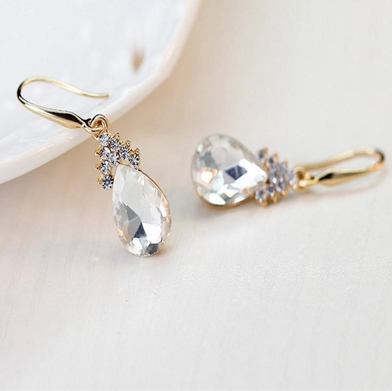 Indexbild 3 - 1X(Halskette Ohrringe Diamant Wassertropfen Elegante Damen Schmuck Set KrisA8E7)