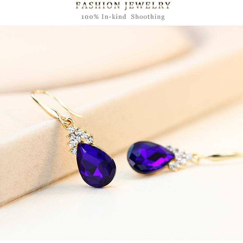 Indexbild 15 - 1X(Halskette Ohrringe Diamant Wassertropfen Elegante Damen Schmuck Set KrisA8E7)