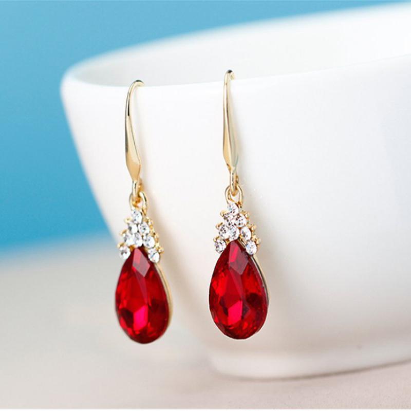 Indexbild 19 - 1X(Halskette Ohrringe Diamant Wassertropfen Elegante Damen Schmuck Set KrisA8E7)