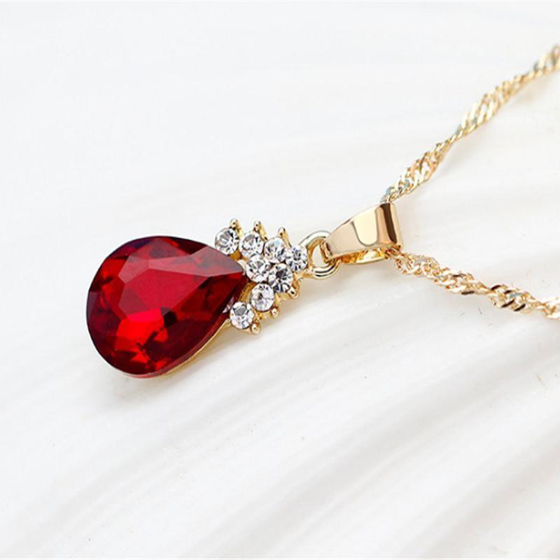 Indexbild 20 - 1X(Halskette Ohrringe Diamant Wassertropfen Elegante Damen Schmuck Set KrisA8E7)