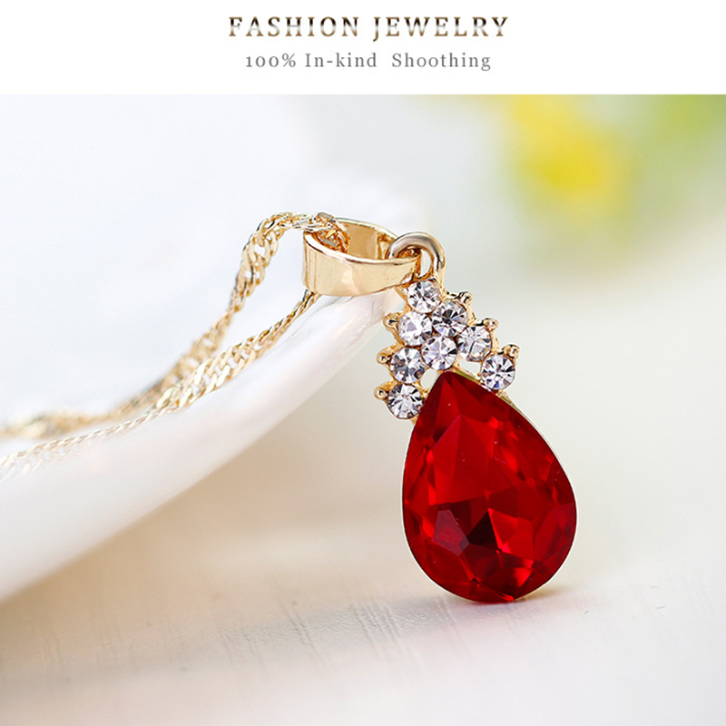Indexbild 22 - 1X(Halskette Ohrringe Diamant Wassertropfen Elegante Damen Schmuck Set KrisA8E7)