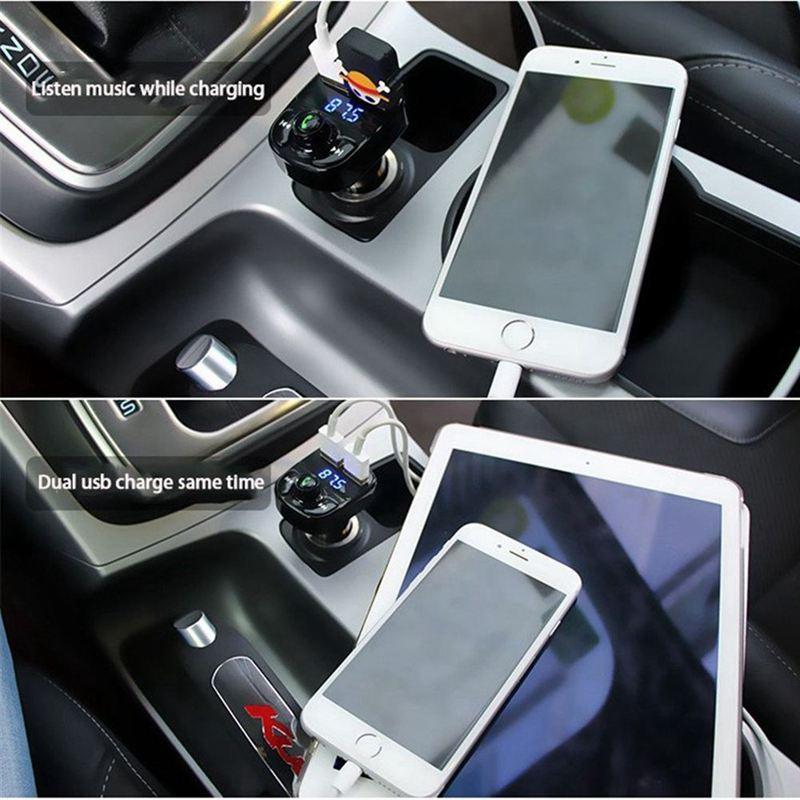 kit de voiture transmetteur fm sans fil bluetooth recepteur radio 4 2a char v9s2 ebay. Black Bedroom Furniture Sets. Home Design Ideas