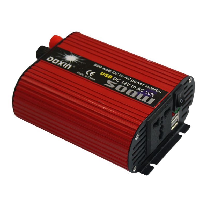 1X-DOXIN-Power-Inverter-500W-DC-12V-to-110V-AC-Converter-with-4-2A-Dual-USB-F7U9 thumbnail 4