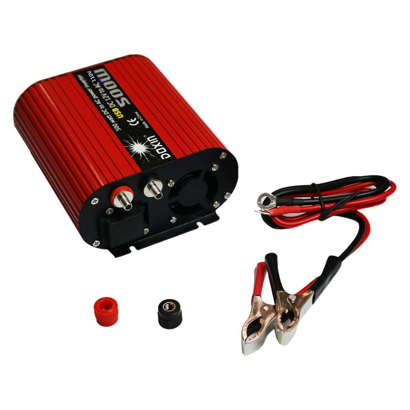 1X-DOXIN-Power-Inverter-500W-DC-12V-to-110V-AC-Converter-with-4-2A-Dual-USB-F7U9 thumbnail 6