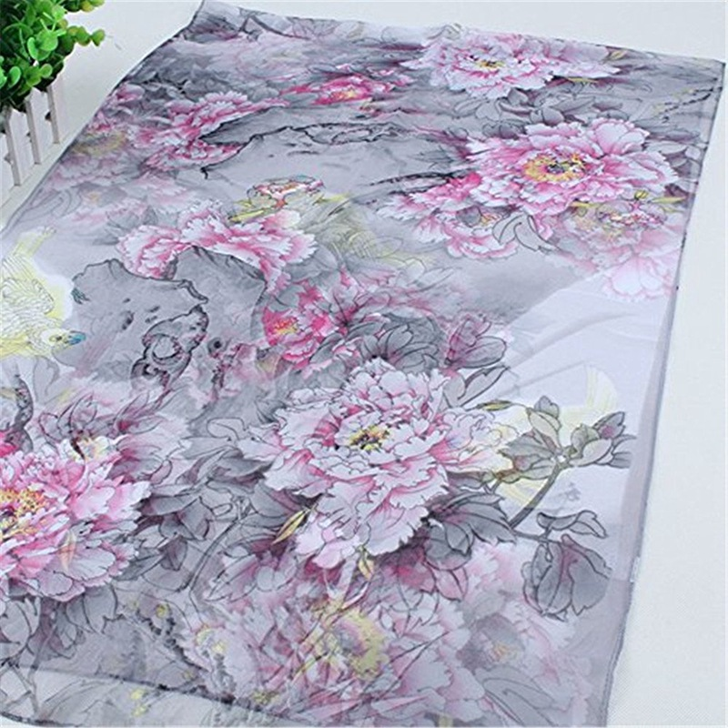 50f5299a4 Printing floral lightweight chiffon shawl and scraf for beach and evening.  Truly an Elegant Fashion item for women, four season scarf for indoor, ...