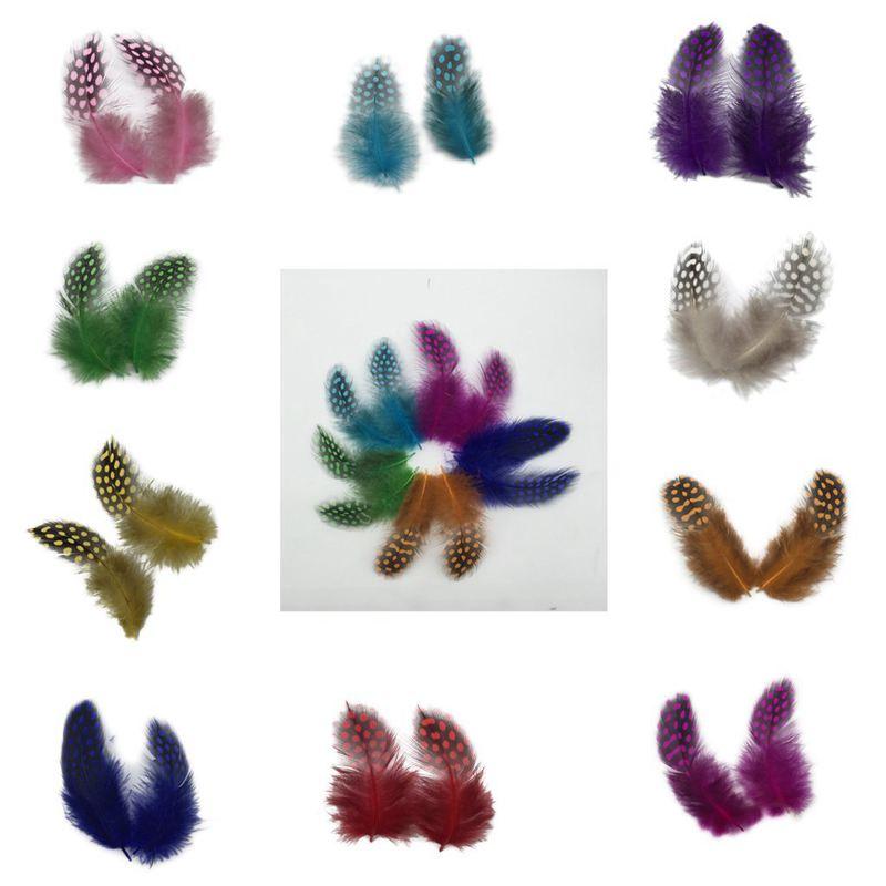 50 Stueck Cock Feather Couture Dekor Kleidung Hut DIY Schmuck 5-10cm Wie ge G5