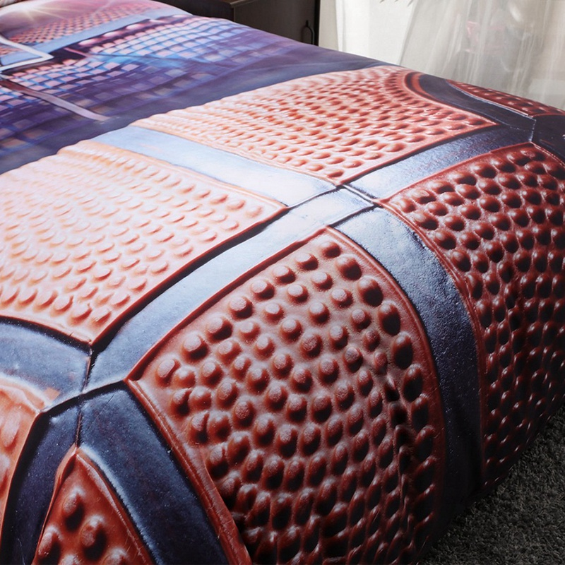 3d Basketball Bedding Set For Teen Boys Polyester Cover Set 2pcs 1
