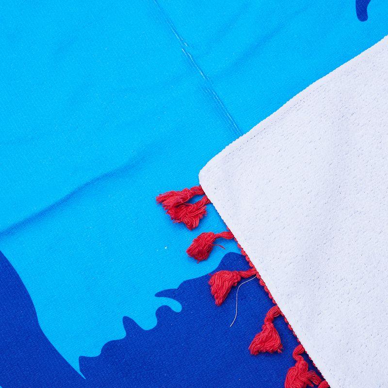 3X(Mikrofaser Skateboard Mann und Strand blau blau blau Handtuch Koerper Yoga-Matte Wtte W | Moderne und elegante Mode  44f9ef
