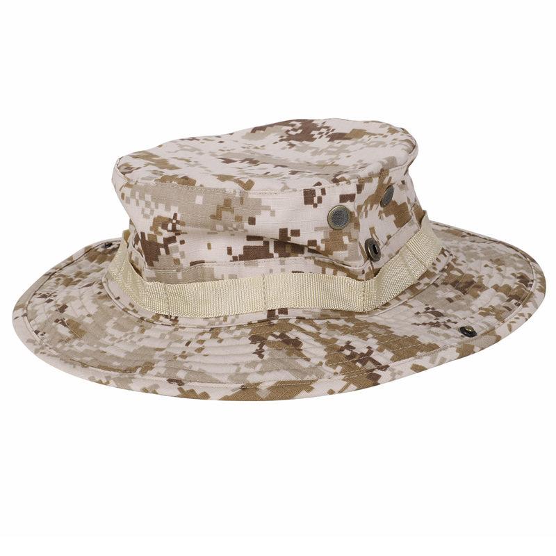 3X-Camouflage-Cappello-Boonie-pescatore-arrotondato-protezione-solare-Cappe-E0C2 miniatura 5
