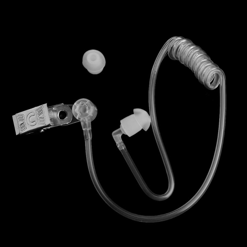 Reemplazo-bobina-transparente-tubo-de-aire-acustico-tapon-de-oido-Con-Clip-pa-ST
