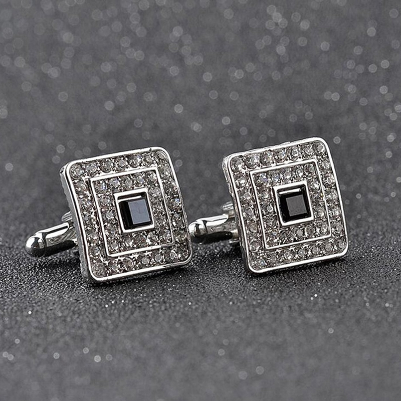 Fashion-Shirt-Cufflinks-Diamonds-Inlaid-Cufflinks-Delicate-Men-039-s-Jewelry-Fo-S2F6 thumbnail 5